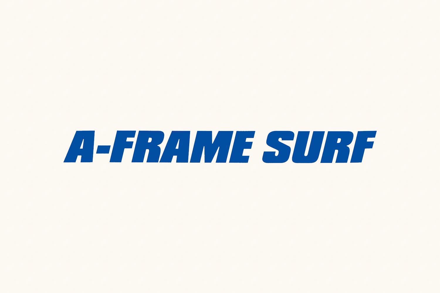 A-Frame Surf Shop